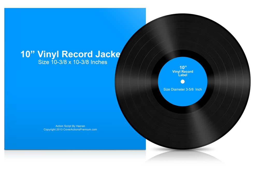 10 inch vinyl record mock ups cover actions premium mockup psd template. Black Bedroom Furniture Sets. Home Design Ideas