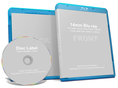 14mm Bluray Mock Up Cover Actions Premium Mockup PSD Template