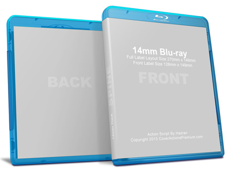 14mm Blu Ray Mock Up Cover Actions Premium Mockup Psd