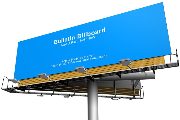 Bulletin Billboard Mock Up Action Scripts | Cover Actions Premium ...