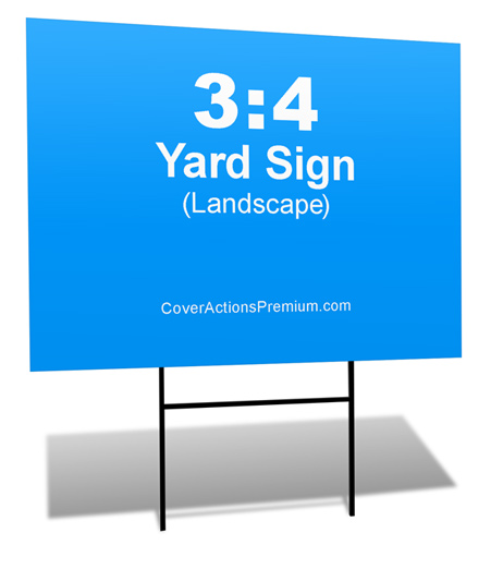 3 4 Proportion Yard Sign Mockup Cover Actions Premium