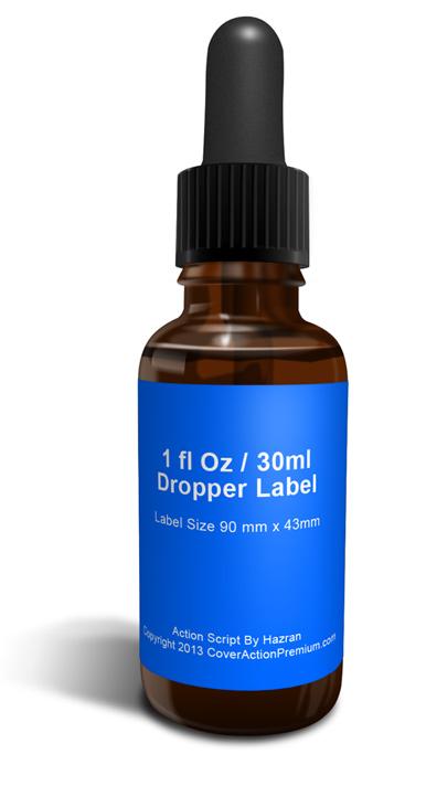 1 Fl Oz Dropper Bottle Mock Up Photoshop Cover Actions
