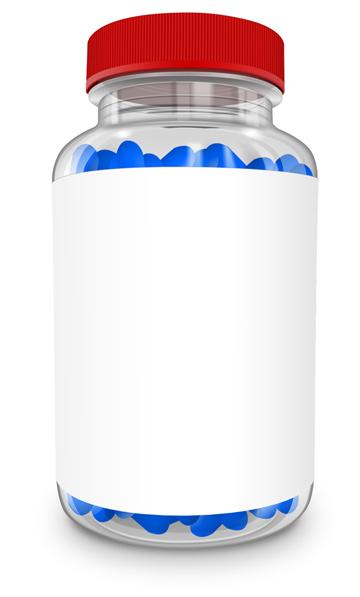 250 ml transparent food supplement bottle Mockup Cover Actions