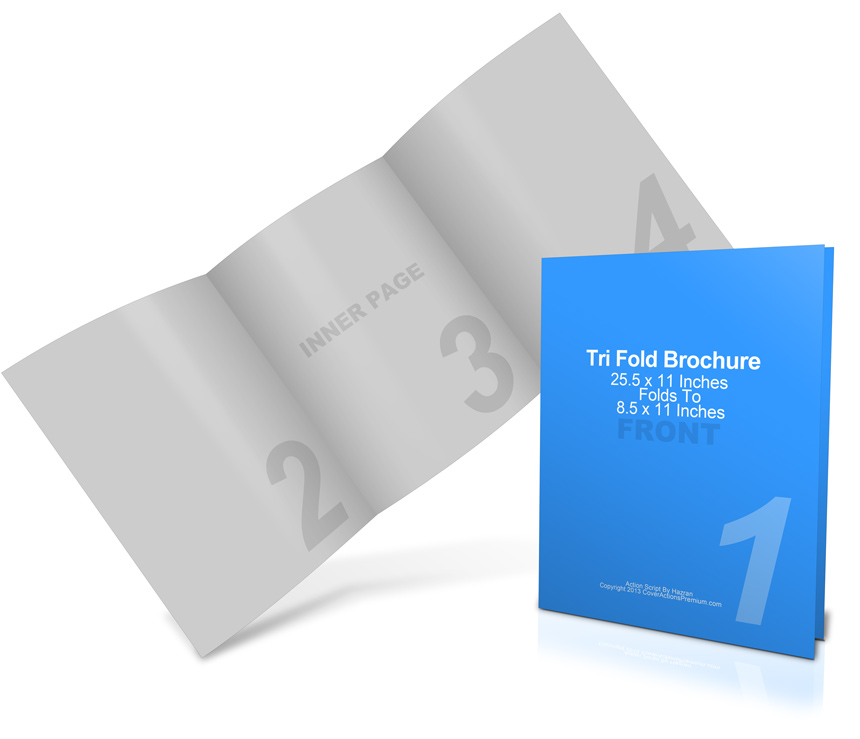 25 5 x 11 tri fold brochure mockup cover actions premium for 5 fold brochure template