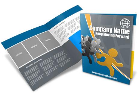 14 x 8.5 Half Fold Brochure Mockup | Cover Actions Premium ...