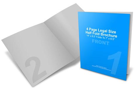 14 x 8.5 Half Fold Brochure Mockup | Cover Actions Premium