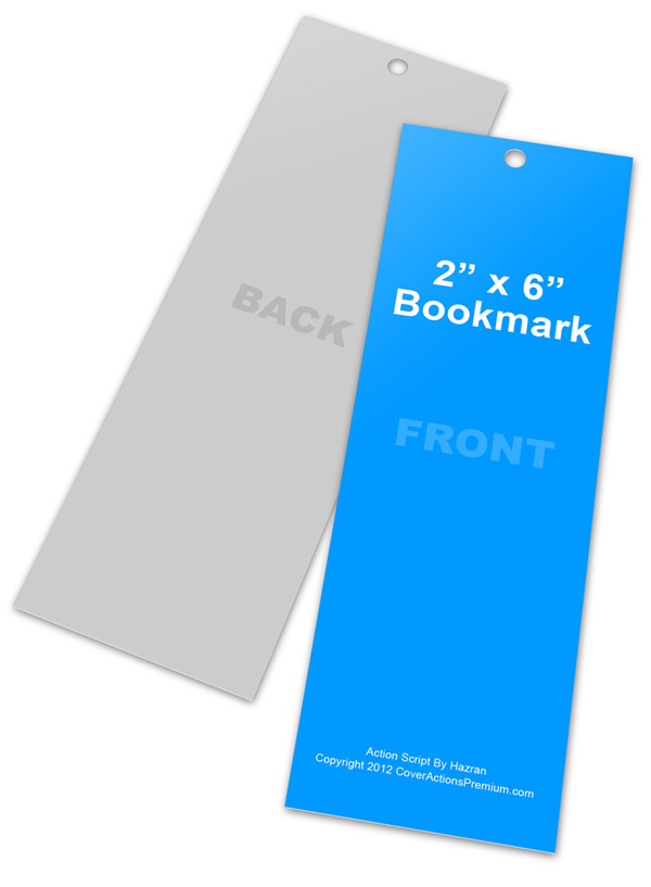 2x6 bookmark mockup action script cover actions premium