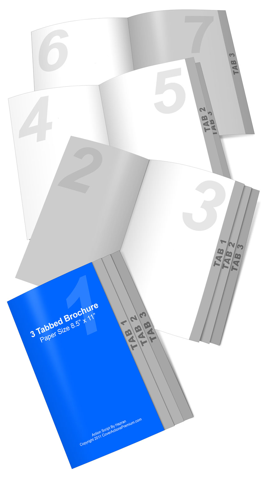 4 page graduated fold brochure action script
