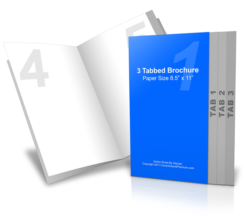 4 Page Graduated Fold Brochure Action Script Cover