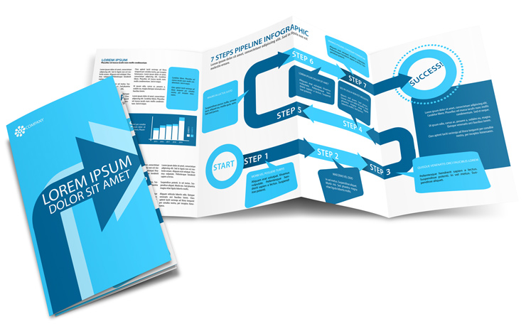 8 Pages 8.5 X 11 Double Gate Fold Brochure Mockup Template