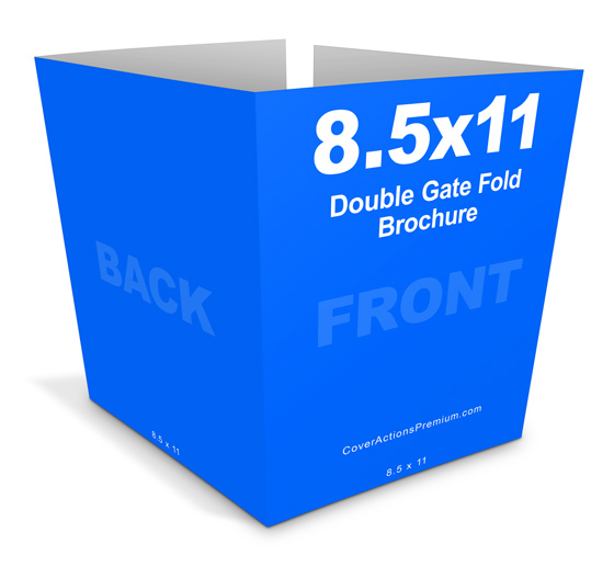 double fold brochure template - double gate fold brochure mockup cover actions premium