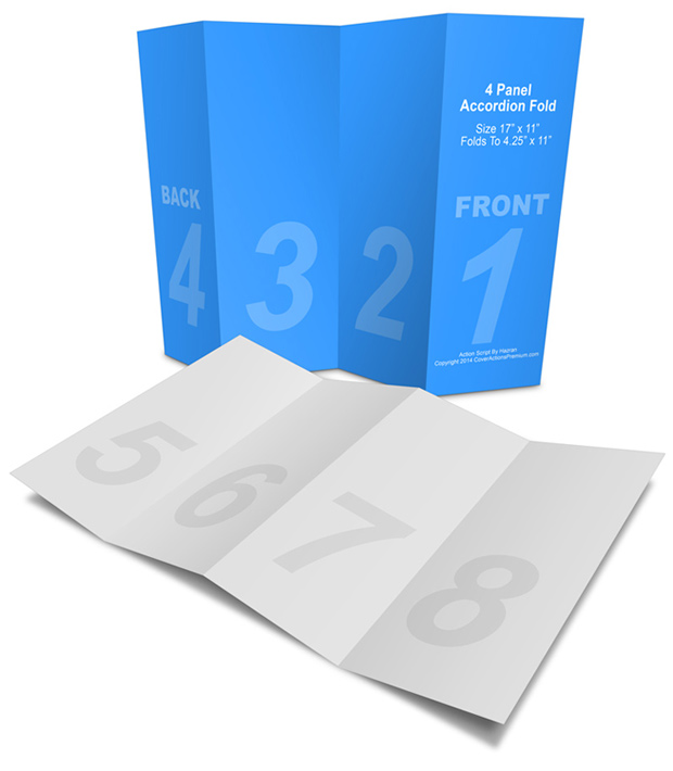 4 panel accordion brochure mock up cover actions premium for 4 panel brochure template