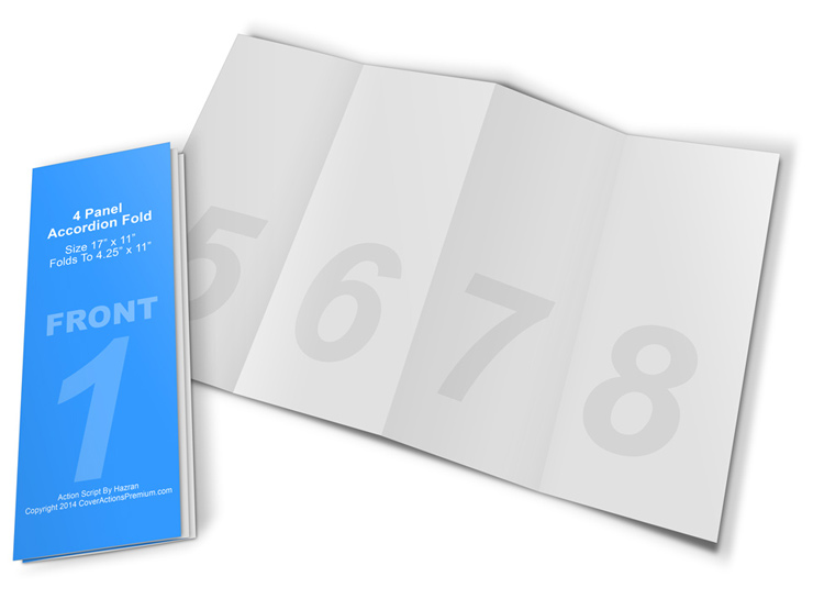 4-Panel Accordion Brochure Mock Up | Cover Actions Premium ...