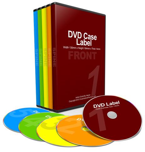 5 DVD Mock Up