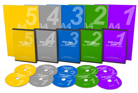 5 Part Courses Home Study Kit Package Mock Up Cover Actions