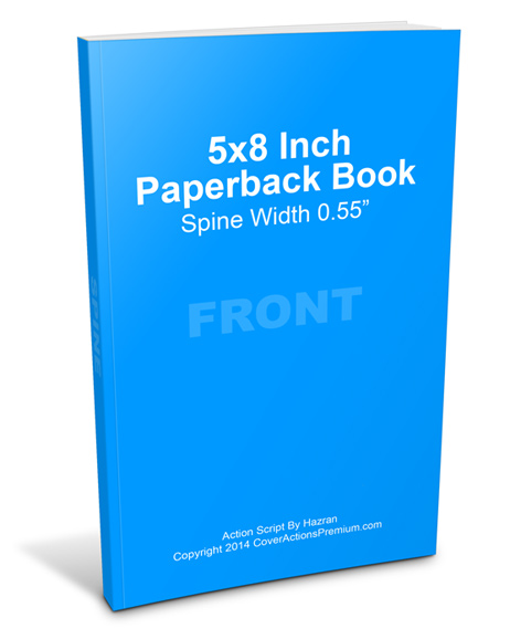 5x8 Paperback Book Mock Up Set | Cover Actions Premium
