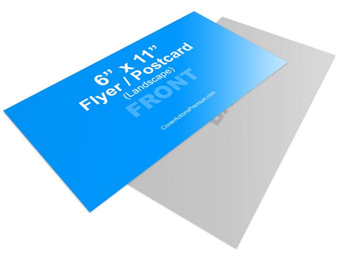 6 x 11 landscape flyer or postcard mock up cover actions cover actions premium mockup psd. Black Bedroom Furniture Sets. Home Design Ideas