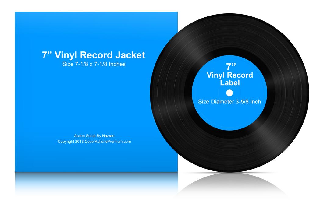 7 Inch Vinyl Lp Record Mock Ups Cover Actions Premium