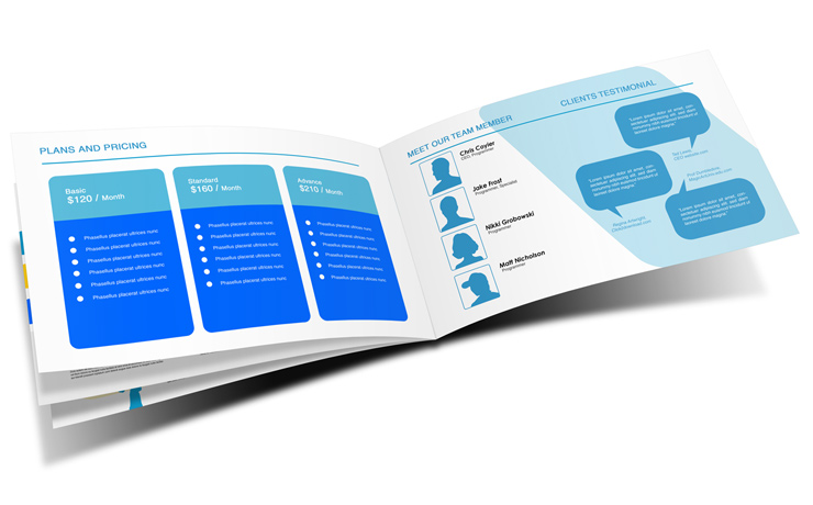 8 page 14 x 8 5 brochure mockup cover actions premium for 8 page brochure template