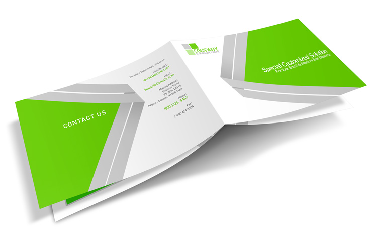 8 page a5 landscape booklet template