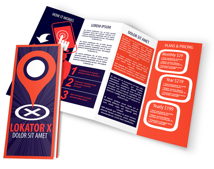 4 panel accordion fold brochure mockup cover actions for Accordion brochure template