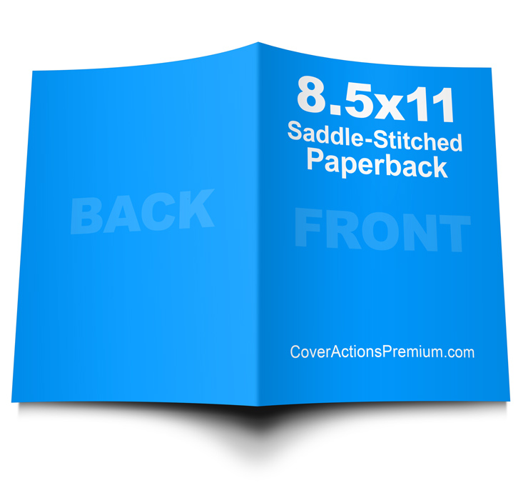 8 5 X 11 Paperback Book Mockup Cover Actions Premium