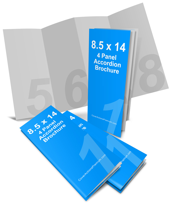 14 x 8 5 accordion fold brochure4 panel