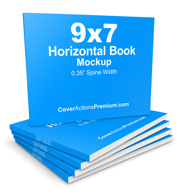 landscape book mockup collections cover actions premium mockup