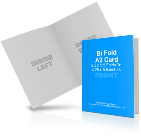 A2 Bi Fold Card Mockup Cover Actions