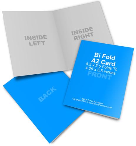 A2 Bi Fold Card Mockup