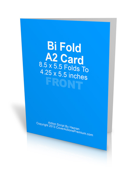A2 Bi Fold Card Cover Actions