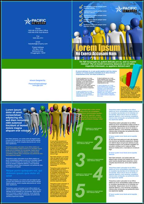 A3 Bifold Brochure Action Script Set
