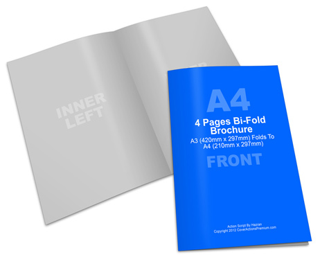 A3 Bifold Brochure Mock Up Cover Actions