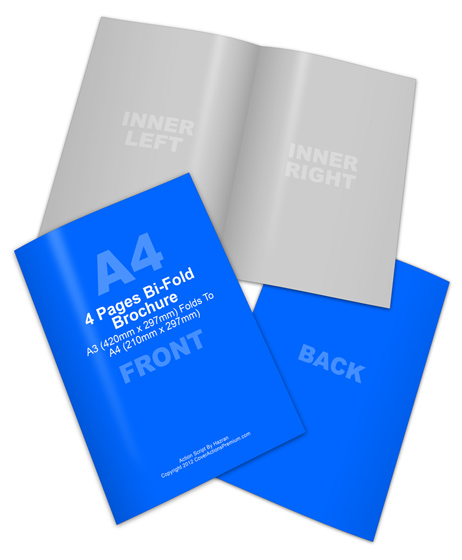 A3 Half-Fold Brochure Mock Up Action Script