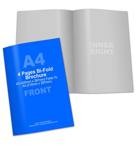 A4 Bifold Brochure Action Script