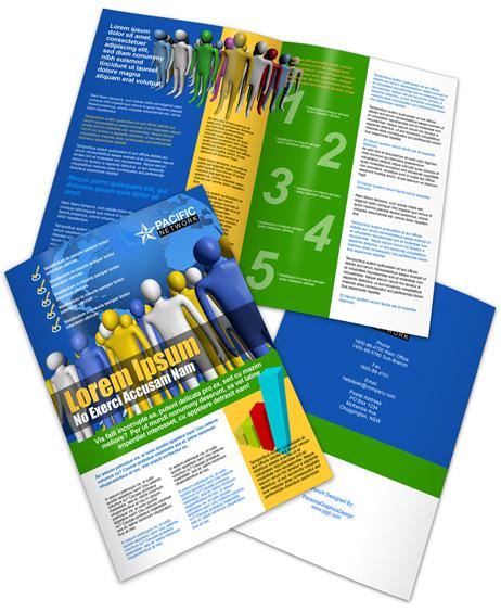 A3 Bifold Brochure PSD Template