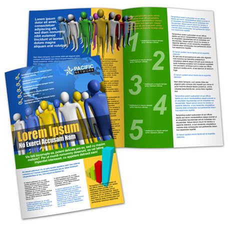 A3 Bi-Fold Brochure Template