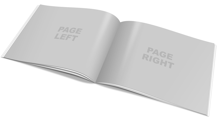 A4 Booklet Portrait Mock Up Action Script