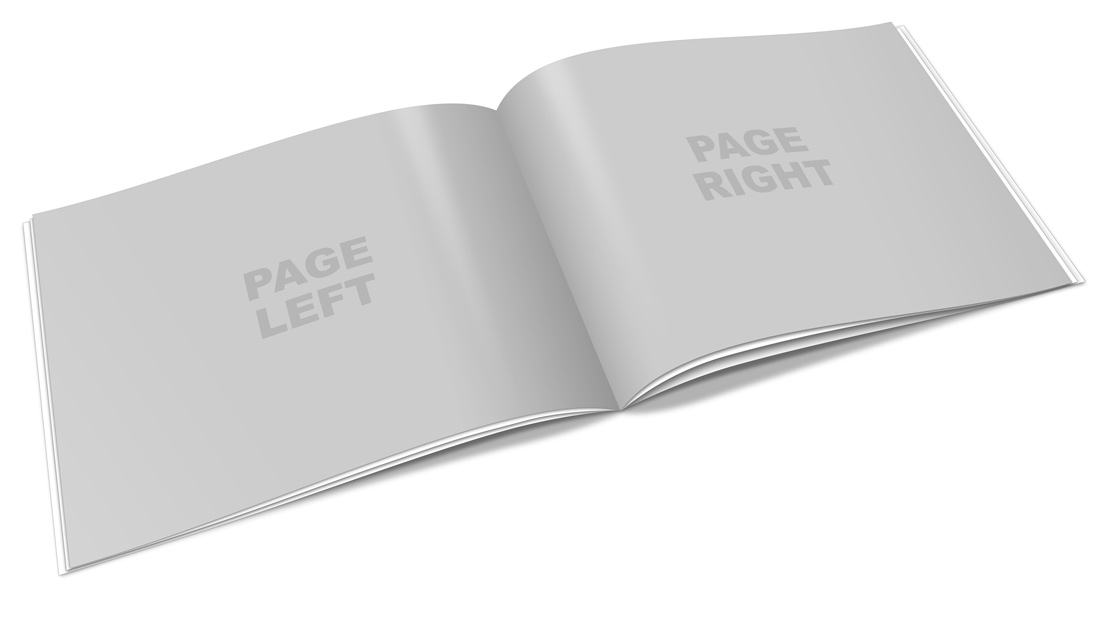 Horizontal A4 Booklet Mock Up Cover Actions