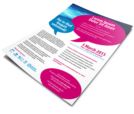 one sided brochure template