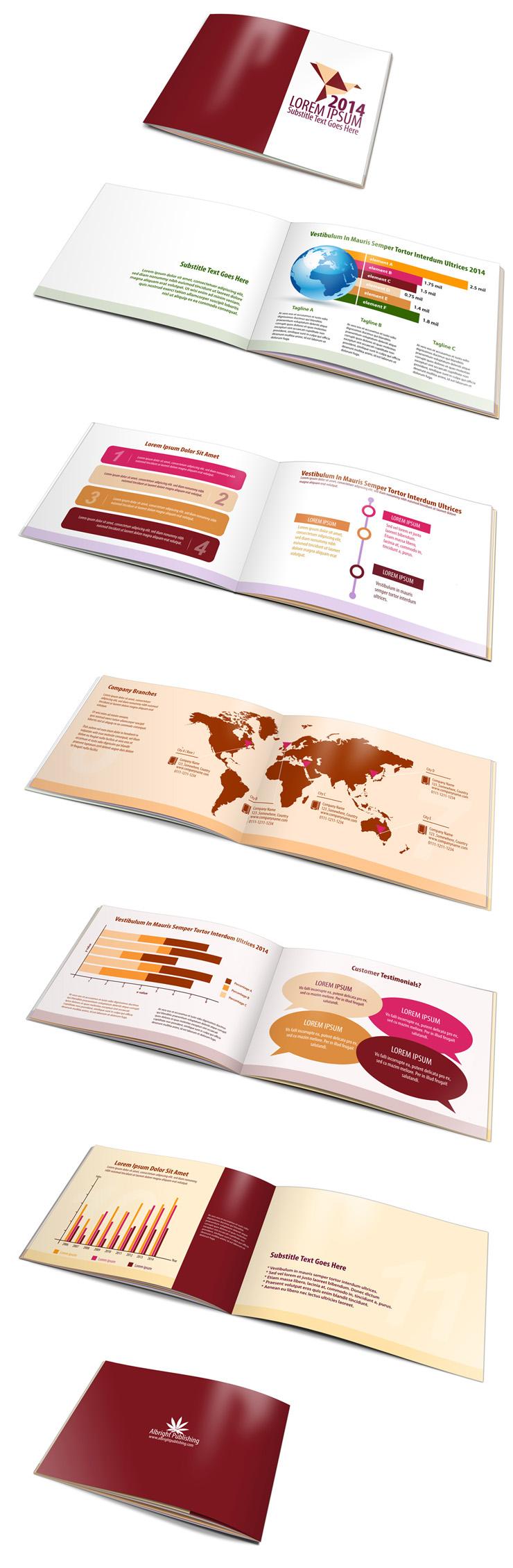 12 page a5 landscape brochure template