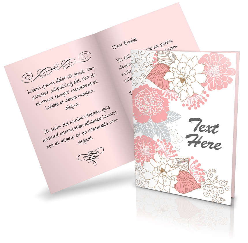 Bi Fold A5 Greeting Card Mockup   Cover Actions Premium   Mockup ...