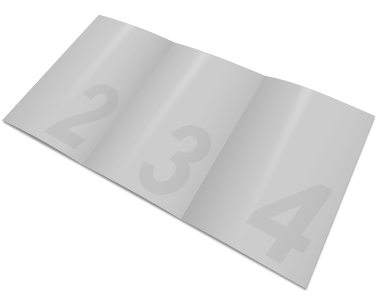 A5 Trifold Brochure Cover Action