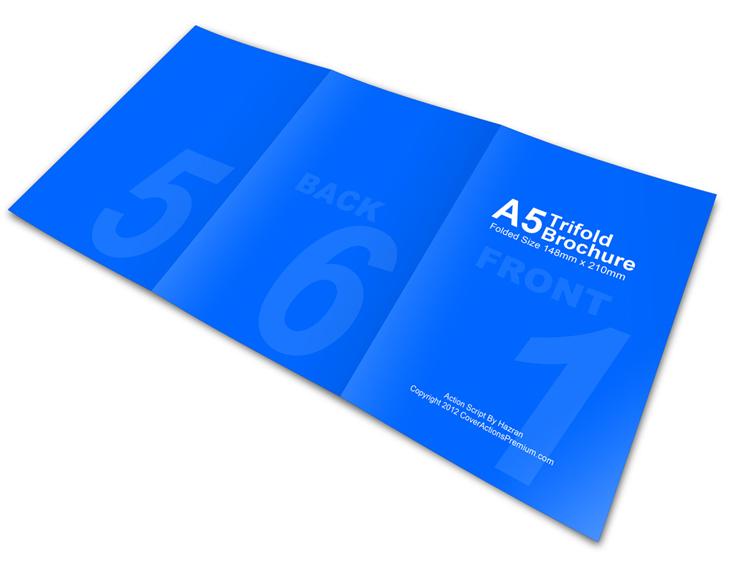 A5 Trifold Brochure Mock Ups