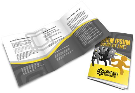 A  A Tri Fold Brochure Mockup  Cover Actions Premium  Mockup