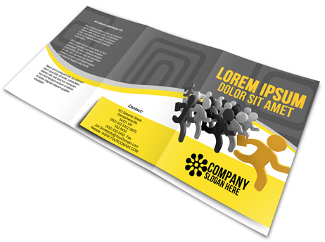 A5 Tri Fold Brochure Cover Actions
