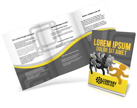 A5 A4 Tri Fold Brochure Mockup Cover Actions Premium Mockup