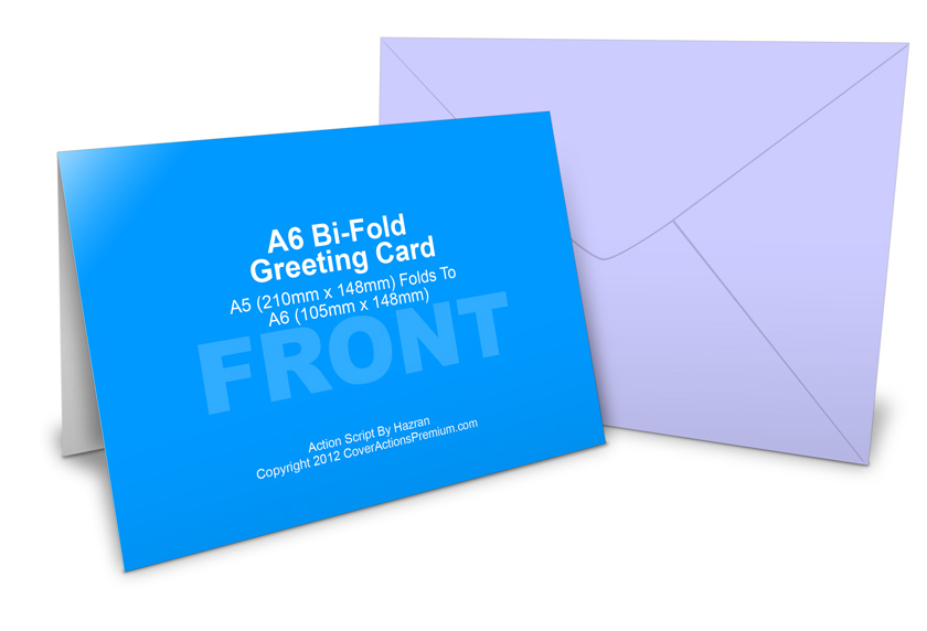 A6 Greeting Card Mockup Cover Actions Premium Mockup