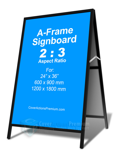 2 3 A Frame Signboard Cover Actions