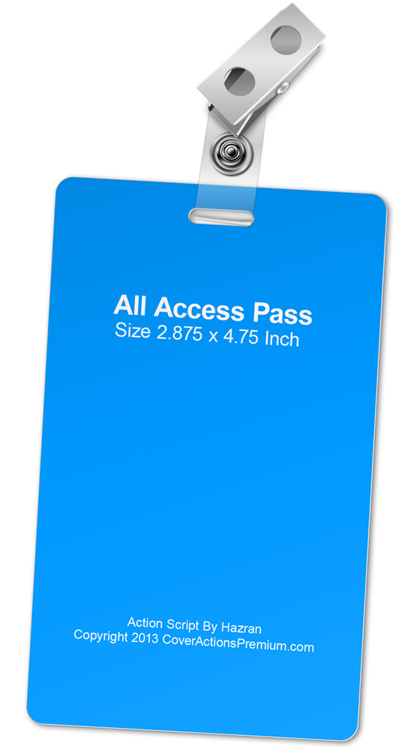 all access pass mock up actions